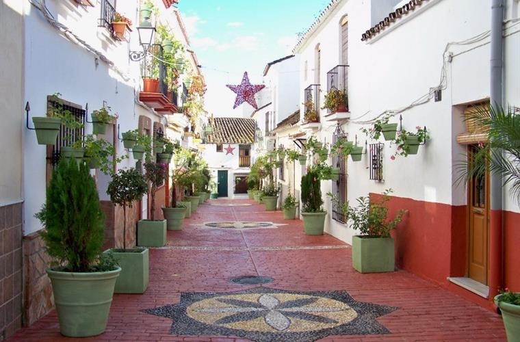 Lovely colourful street in Estepona Old Town