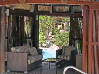 Inside one of our cabanas