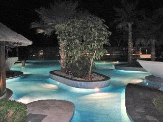The stunning pools at night