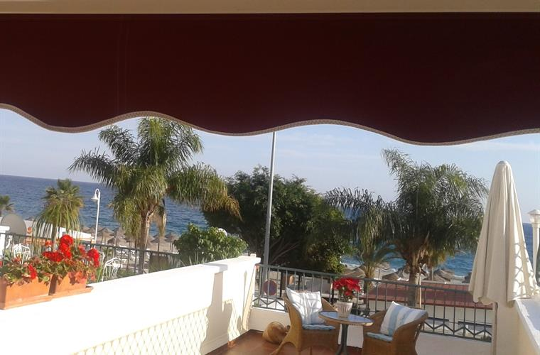 45 sqm very sunny terrace to the sea side