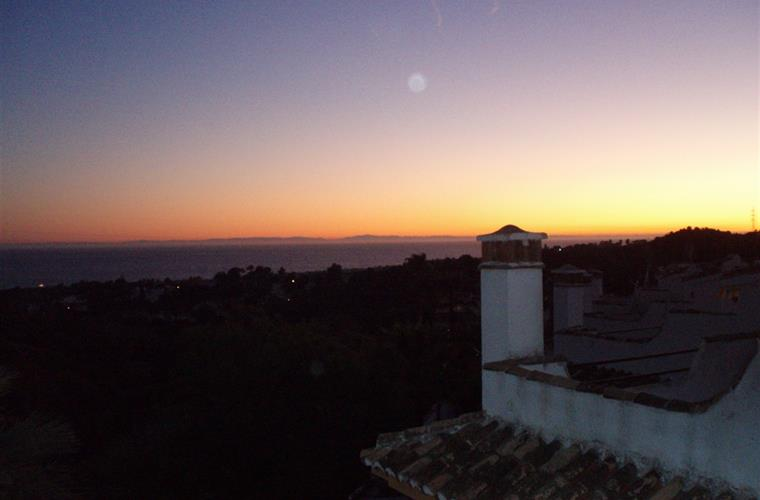 Night View Of African Coast from Roof Terrace