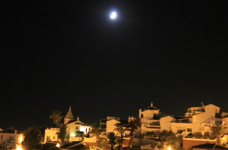 The Moon seen from Terrace