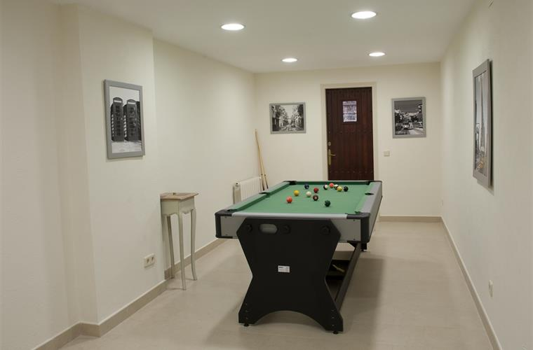 games room. billiards