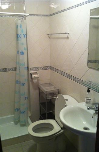 Small bathroom with toilet