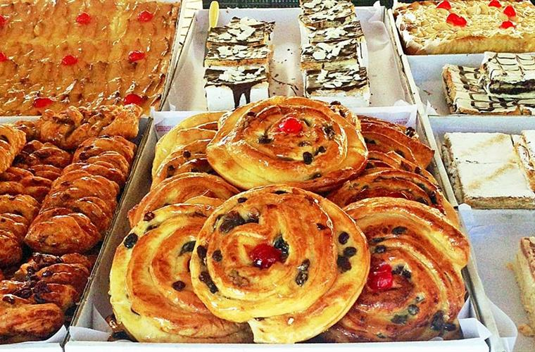 beautiful pastries at the market