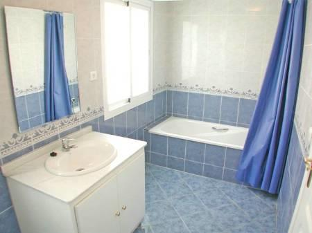 Bathroom in cool Mediterranean blue