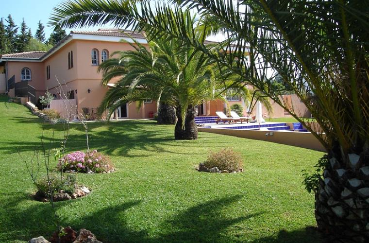 Villa, beautiful garden, palm trees & pool
