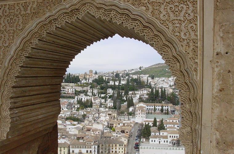 Granada from the Nazrid Palaces at Al Hambra (2 hrs.)