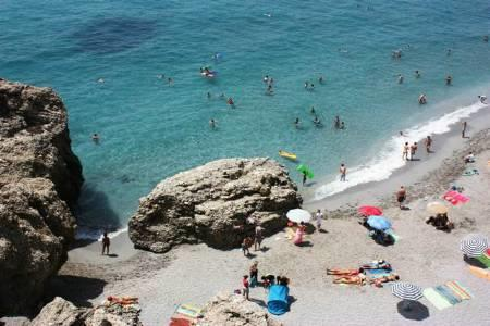 The Beach at Nerja (40 mins by car)