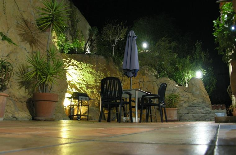BBQ terrace at night