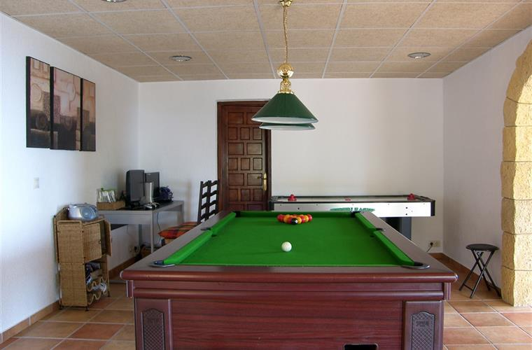 Pool table, air hockey and games desk