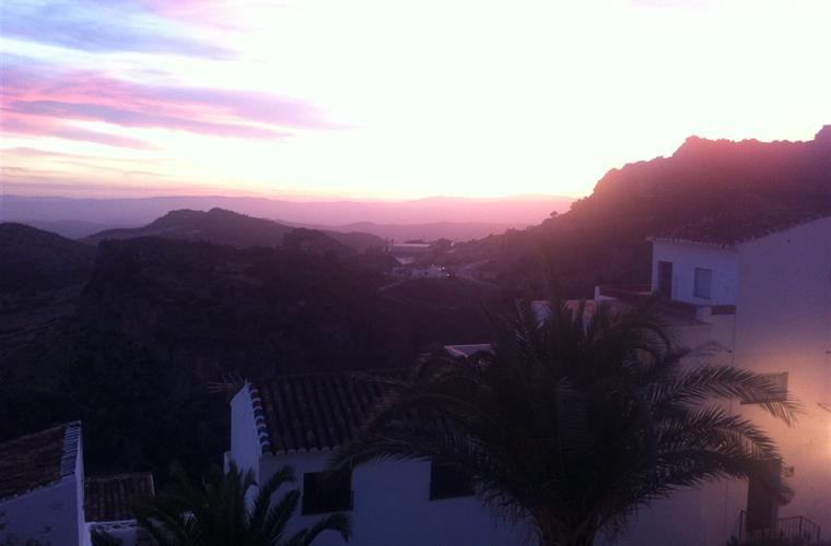 nearby Casares at sunset