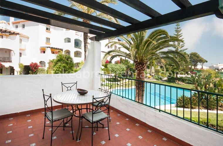 Terrace Spanish apartment rentals Costa del Sol
