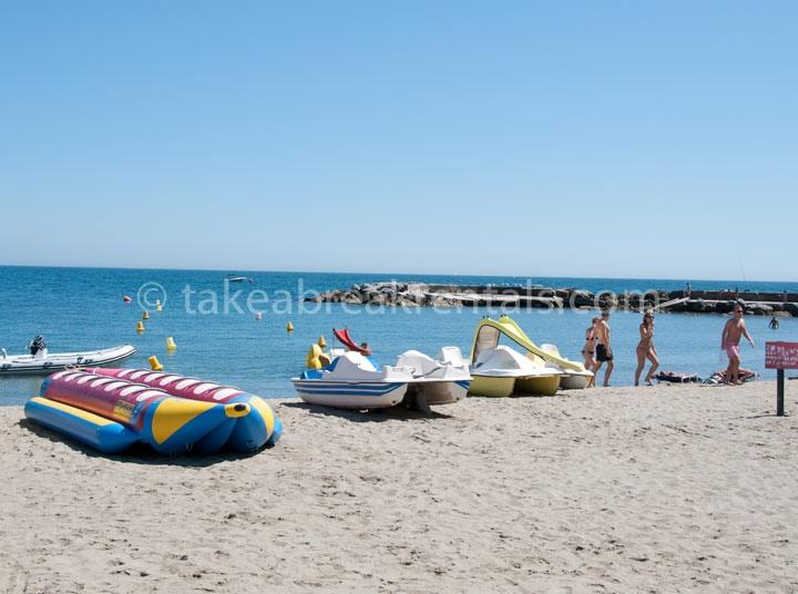 Beach with activities Puerto Banus Marbella