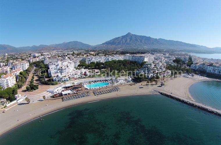 Ariel view Ocean Club Puerto Banus Spain