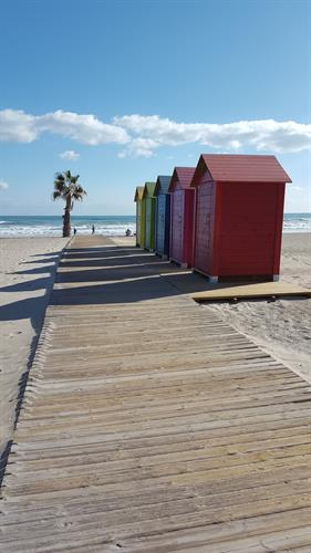 dressing cabins on the beach,