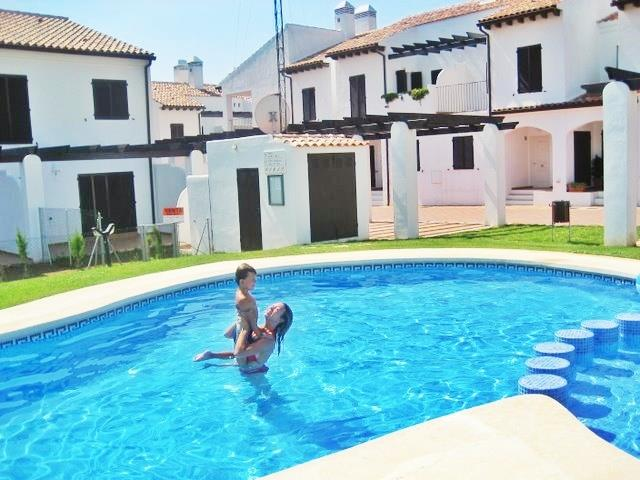 partial view of the pool - my son and I a few years back :)