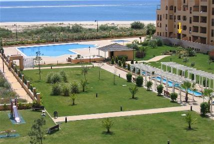 Front Line Beach overlooking pool, beach and sea