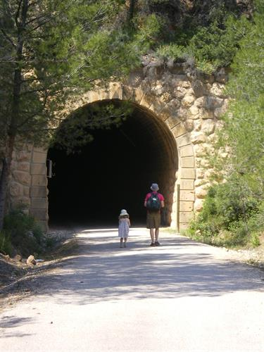 The entrance to Via Verde,one of the beautiful local hiking trails