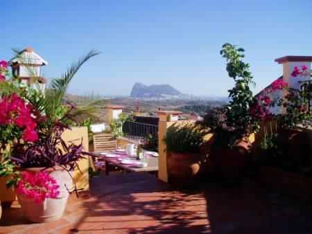 View of Gibraltar & Morocco from the terrace