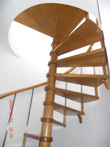spiral staircase that leads to solarium