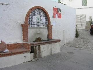 One of the fountains in the village