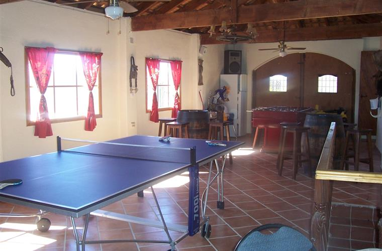Games Room with ping pong, table football, darts, board games etc