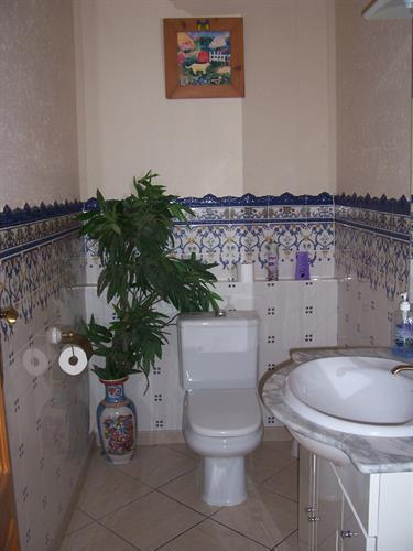 Powder room in house