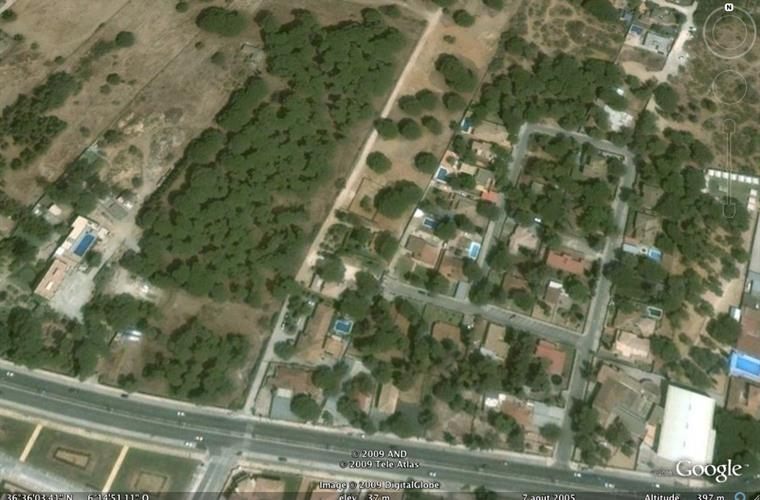 GoogleEarth view (La Casita is in the centre)