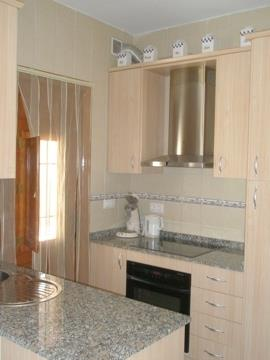 Fully equipped kitchen with dish-washer and big fridge.