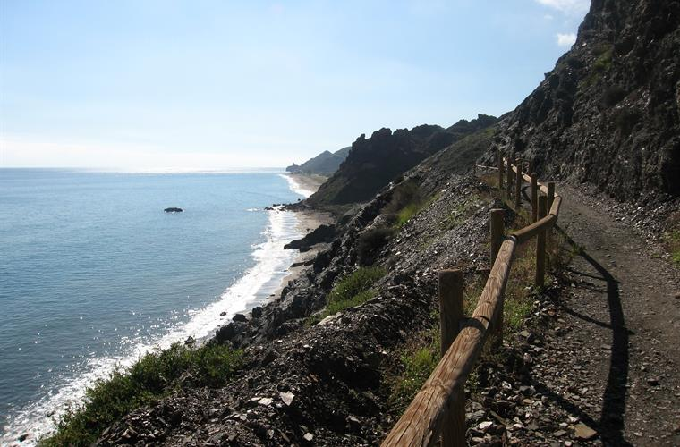 Headland path between Macenas & Mojacar Playa. 30 minute walk.