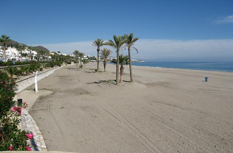 Mojacar playa. Miles of sandy beach.