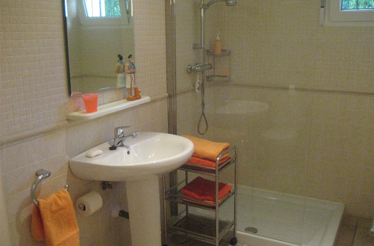 The second bathroom with shower.