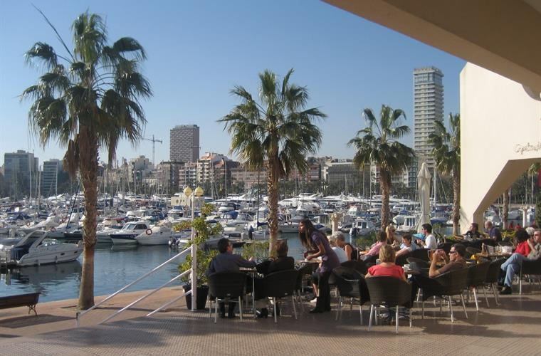 The marina of Alicante.
