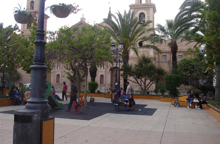 Church Square in town of Torrevieja