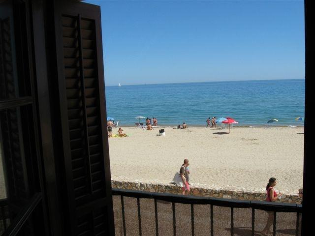 View to the beach from the lounge