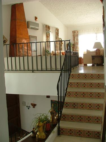 stairs to sitting room