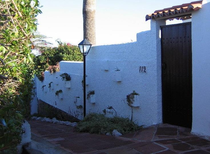 Private entrance to Villa