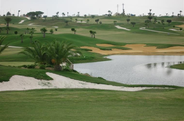 The golf course is just 200m from the apartment.