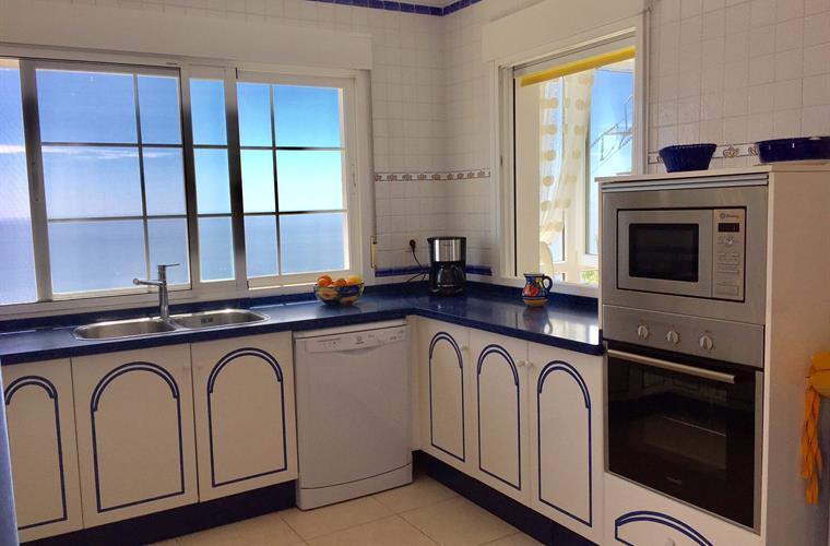 Upper kitchen with stunning seaview