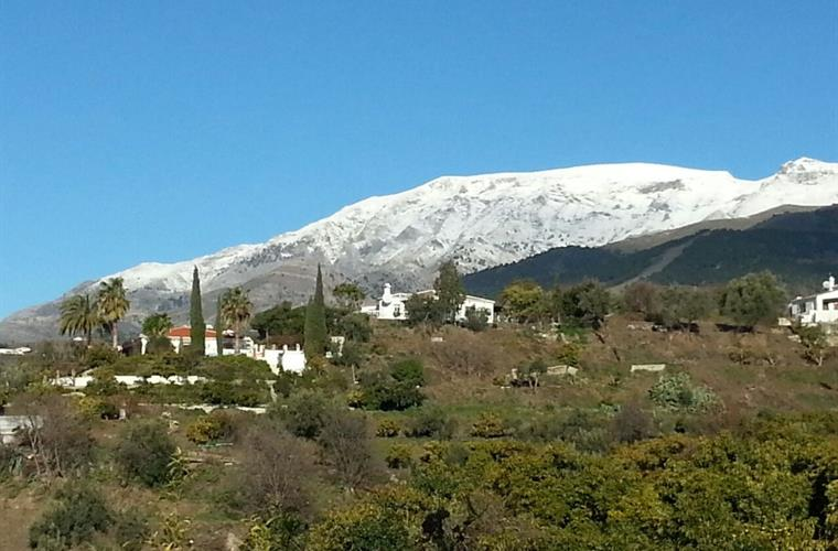 View to mount Maroma in the winter