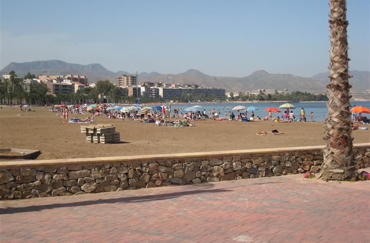 Wonderful clean beach at Puerto de Mazarron