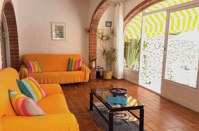 The sunny naya has doors which open to the pool & dining terraces