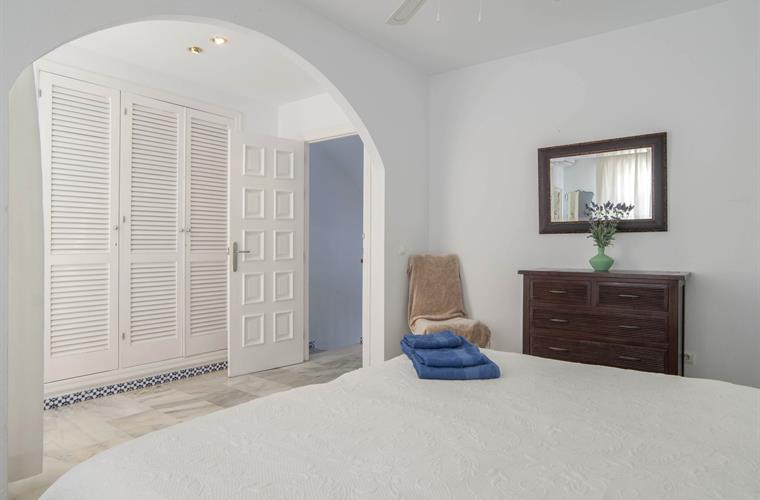 Bedroom 1-Twin beds, wardrobe, private small balcony.