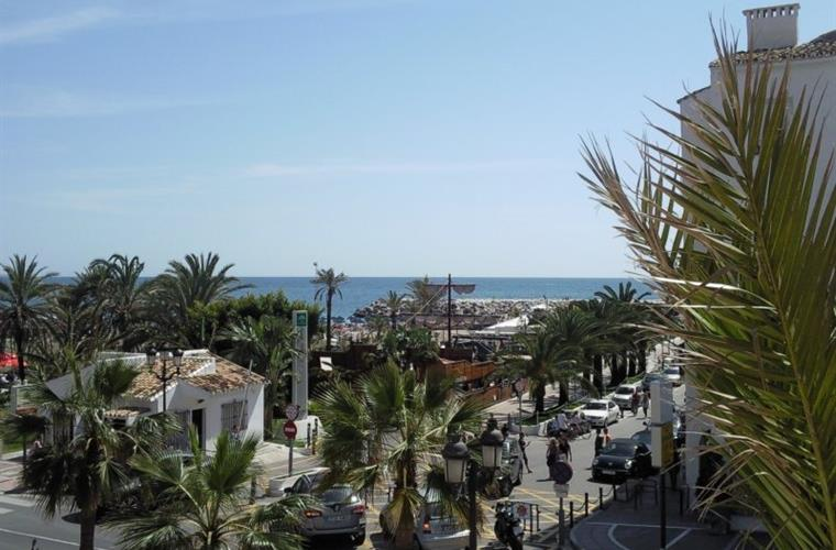 Puerto Banus beach from sun terrace