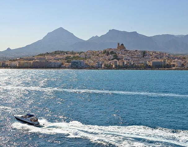 Altea seen from the sea