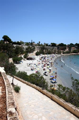 The adjacent Cabo Roig beach.