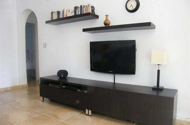 English TV, 150 DVD's, 100CD, PS2+ Games, Books, IPod docking,WiFi