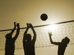 Play volleyball as the sun rises or sets - or just have fun!