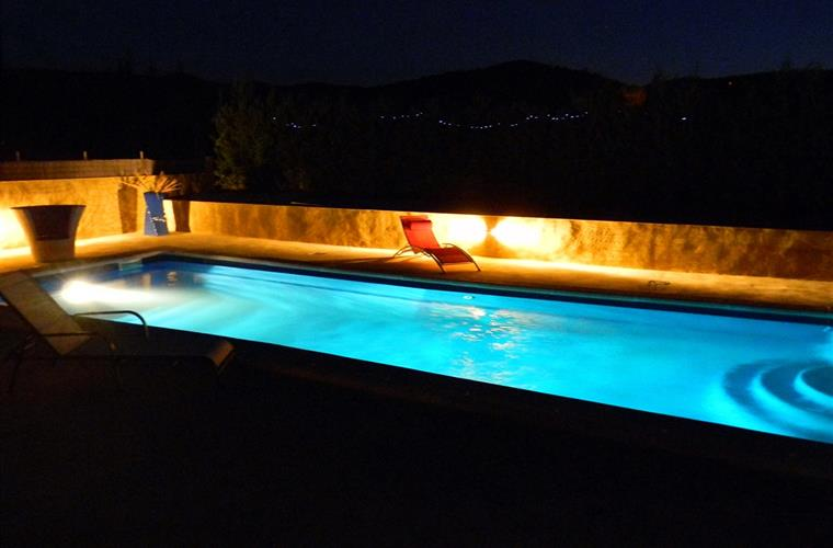 The pool by night!